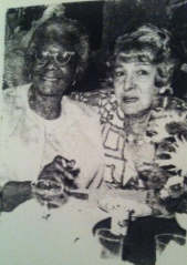 Hattie and my great grandmother Fanny at a wedding